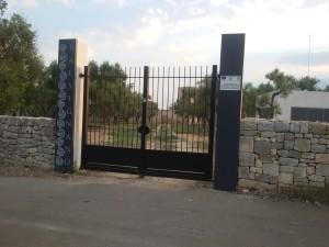 Balsignano: il cancello di accesso