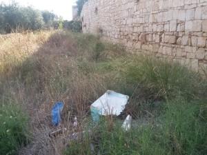 Balsignano: la parte integra delle mura medievali